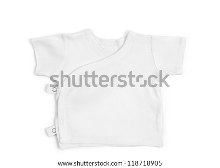 Children's t-shirt isolated over white background - stock photo