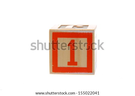 Children's toy blocks with numbers/Children dice with the number 1 - stock photo