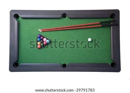 Children's toy pool on white - stock photo