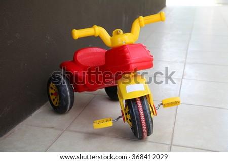 Children's tricycle - stock photo