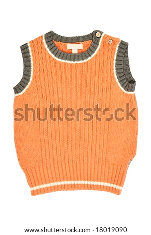 Children's wear - waistcoat isolated over white background