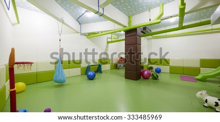 Children school and Family home interiors,Recreation classroom - stock photo