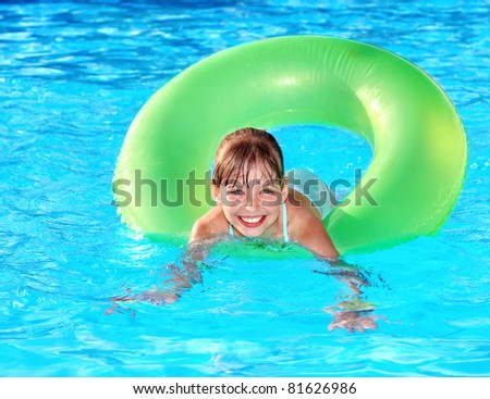 Children Playing With Inner Tubes In A Pool Stock Images Royalty Free Images Vectors