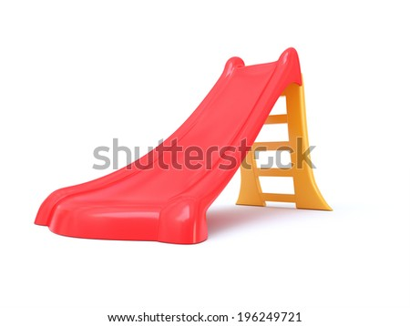 children slide - stock photo
