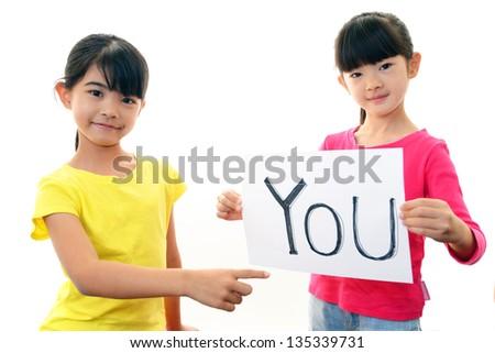 Children Studying - stock photo