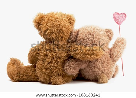 Children toy lies isolated on a white background - stock photo