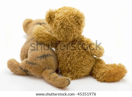 Children toy lies isolated on a white background