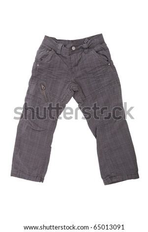 Children trousers isolated on white
