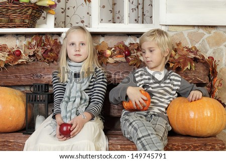Children - waiting for holiday - stock photo