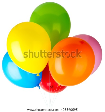 Childrens party balloons - stock photo
