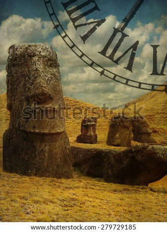 Chile, Easter Island, summer 2012. - stock photo