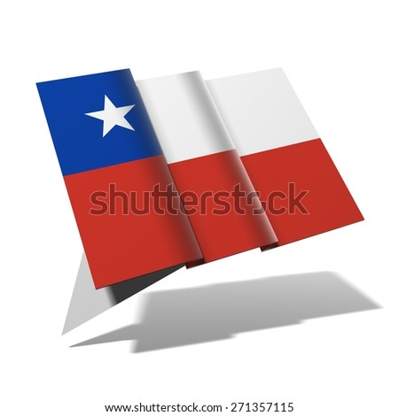 Chile flag 3D banner - stock photo