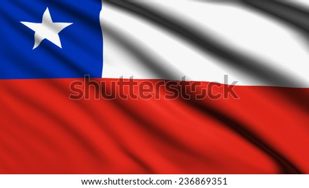 Chile flag with fabric structure