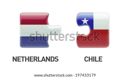 Chile Netherlands High Resolution Puzzle Concept