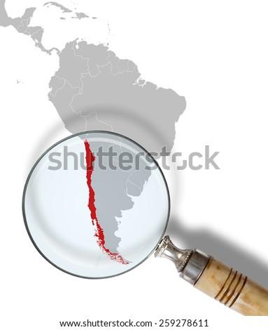 Chile under scrutiny - stock photo
