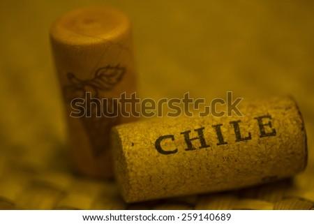 Chile wine stopper - stock photo