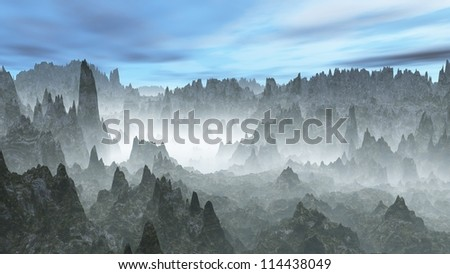 Chilean Andes - stock photo