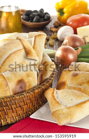 Chilean empanada or meat pie - stock photo