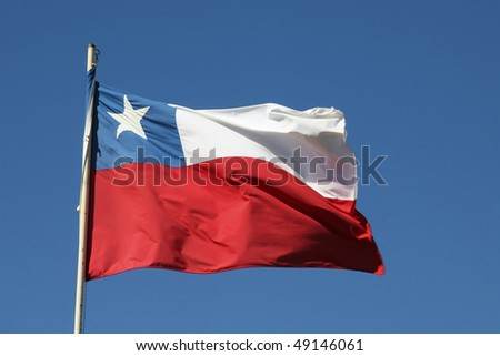 Chilean flag - stock photo