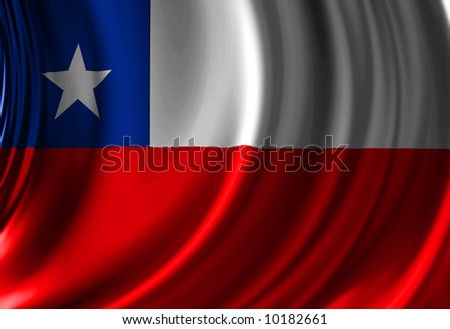 Chilean flag waving in the wind