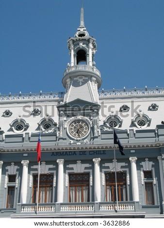 Chilean Naval Academy Valparaiso - stock photo