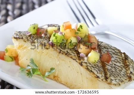 Chilean Sea Bass - stock photo