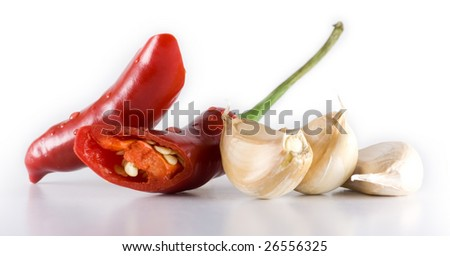 Chili and garlic - stock photo