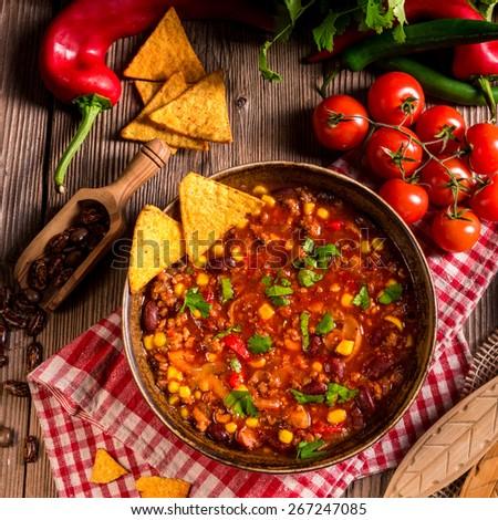 Chili con Carne - stock photo