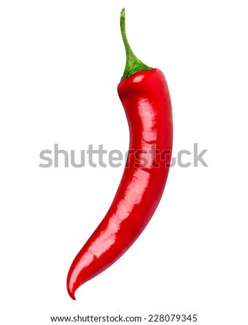 chili pepper isolated - stock photo
