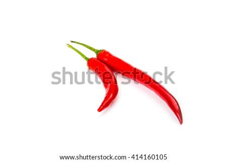 chili pepper isolated on white background - stock photo