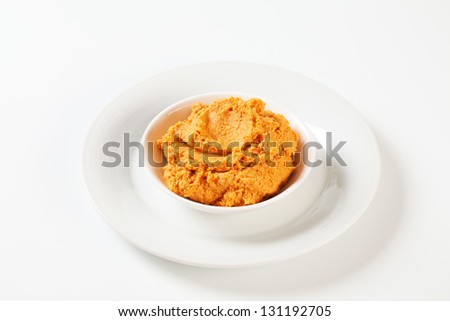 Chili pepper spread in a bowl