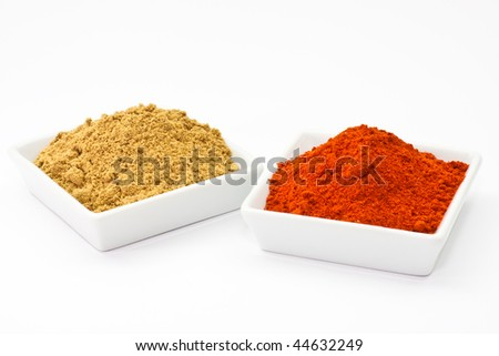 chili powder and coriander powder