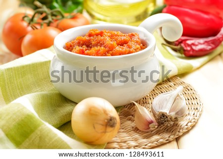 Chili sauce - stock photo