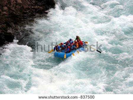 chilko river british columbia/river rafting