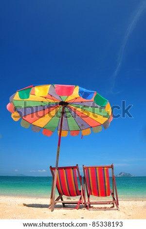 Chill on the beach 01 - stock photo