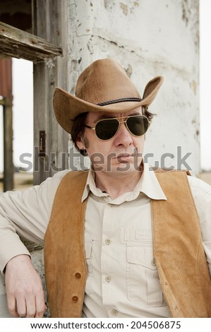Chilled Out Cowboy - stock photo
