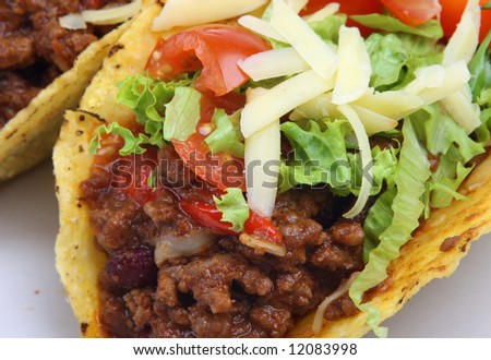 Chilli beef mexican tacos