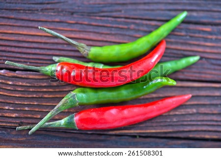 chilli peppers - stock photo