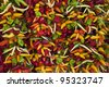 Chilli peppers on market stall, Majorca - stock photo