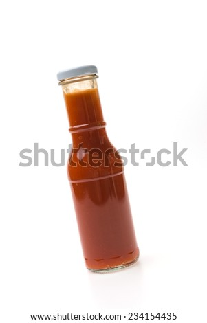 Chilli Sauce bottle isolated on white background