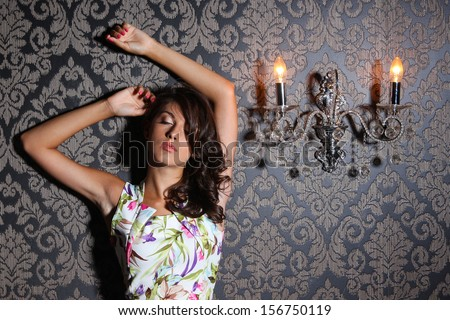 Chilling young girl, portrait shot - stock photo