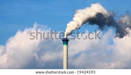 Chimney - Industry chimney smoking - stock photo