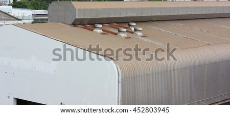 chimney ventilator on the roof