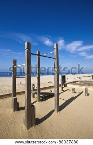 Chin Up Bars at Beach