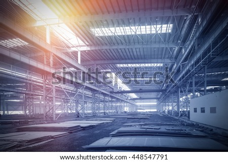 China, a large factory floor - stock photo