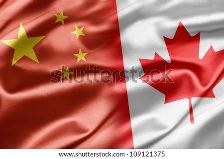 China and Canada - stock photo