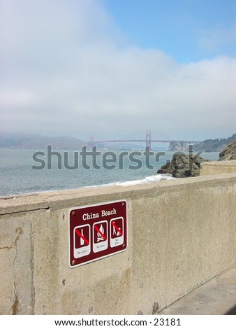 China Beach is located on Sea Cliff Drive in San Francisco.Used as a campsite by many of the chinese fishermen who worked in and around San Francisco bay - stock photo