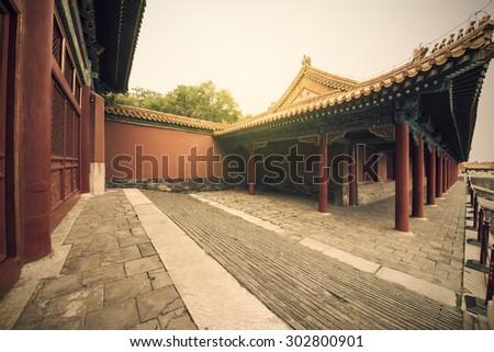 China Beijing Forbidden City  - stock photo