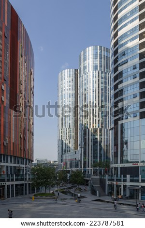 CHINA, BEIJING -  SEP 10, 2014: Photo of the modern urban landscape
