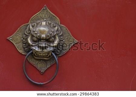 china door Knocker - stock photo